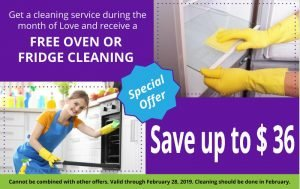keenmaids promo valentines day free oven or fridge cleaning